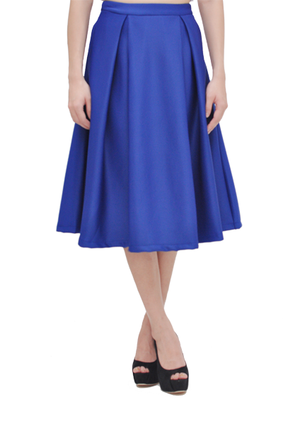 Kaitlynn Midi Skirt 2.0 in Electric Blue