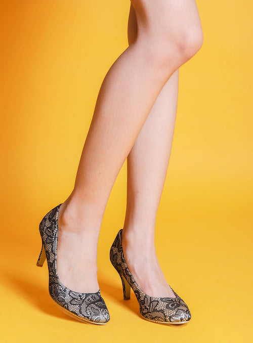 Katy Heels in Lace