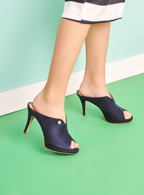 Kayla Heels in Navy