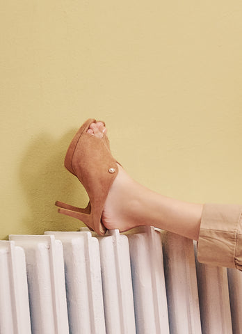 Hayden Heels in Almond
