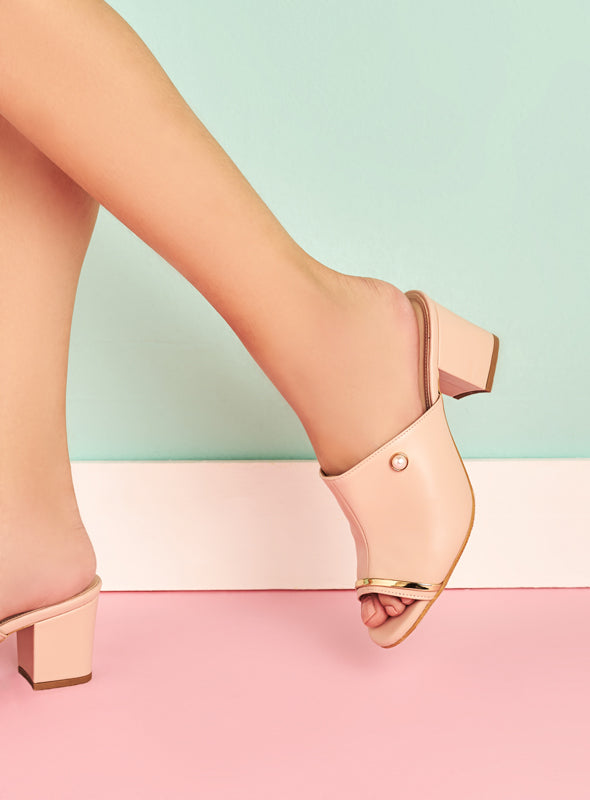 Krystal Heels in Blush