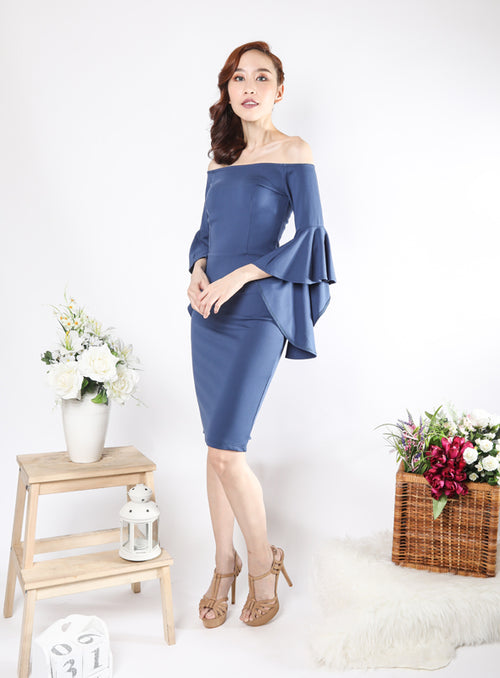 Latricia Dress in Blue