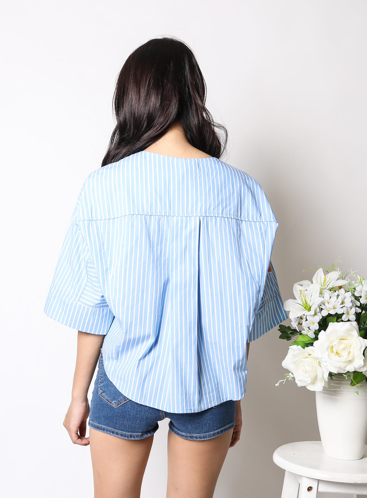 Laureen Top in Light Stripes