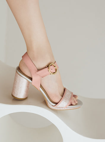 Stella Heels in Rose Gold