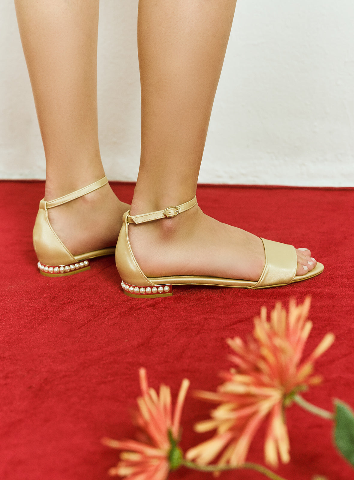 Luna Sandals in Dusty Gold