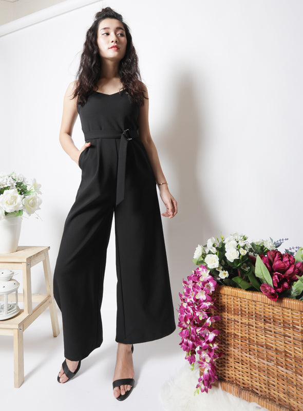 Lydia Jumpsuit in Black