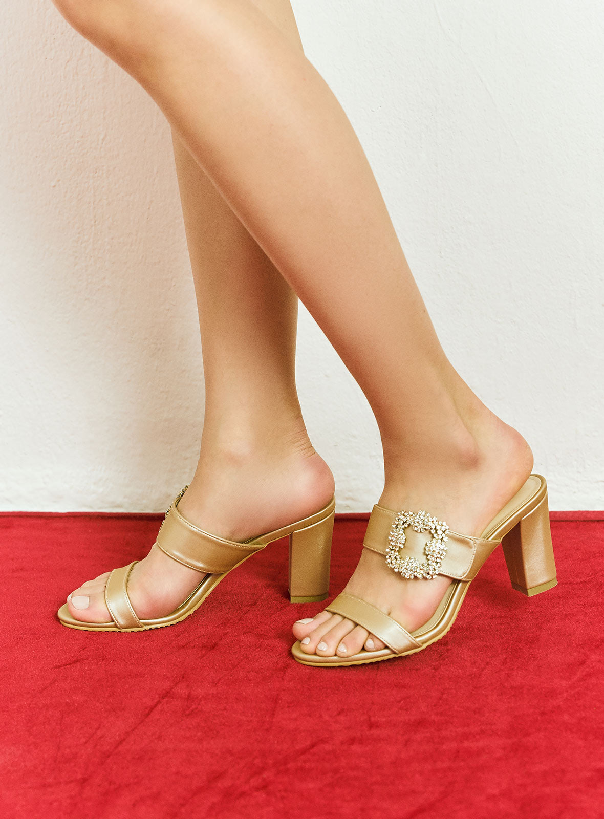 Madelyn Heels in Champagne