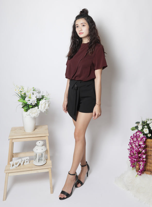 Maxwell Top in Burgundy