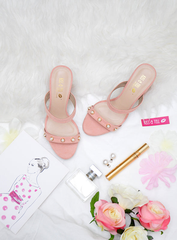 Paisley Heels in Blush