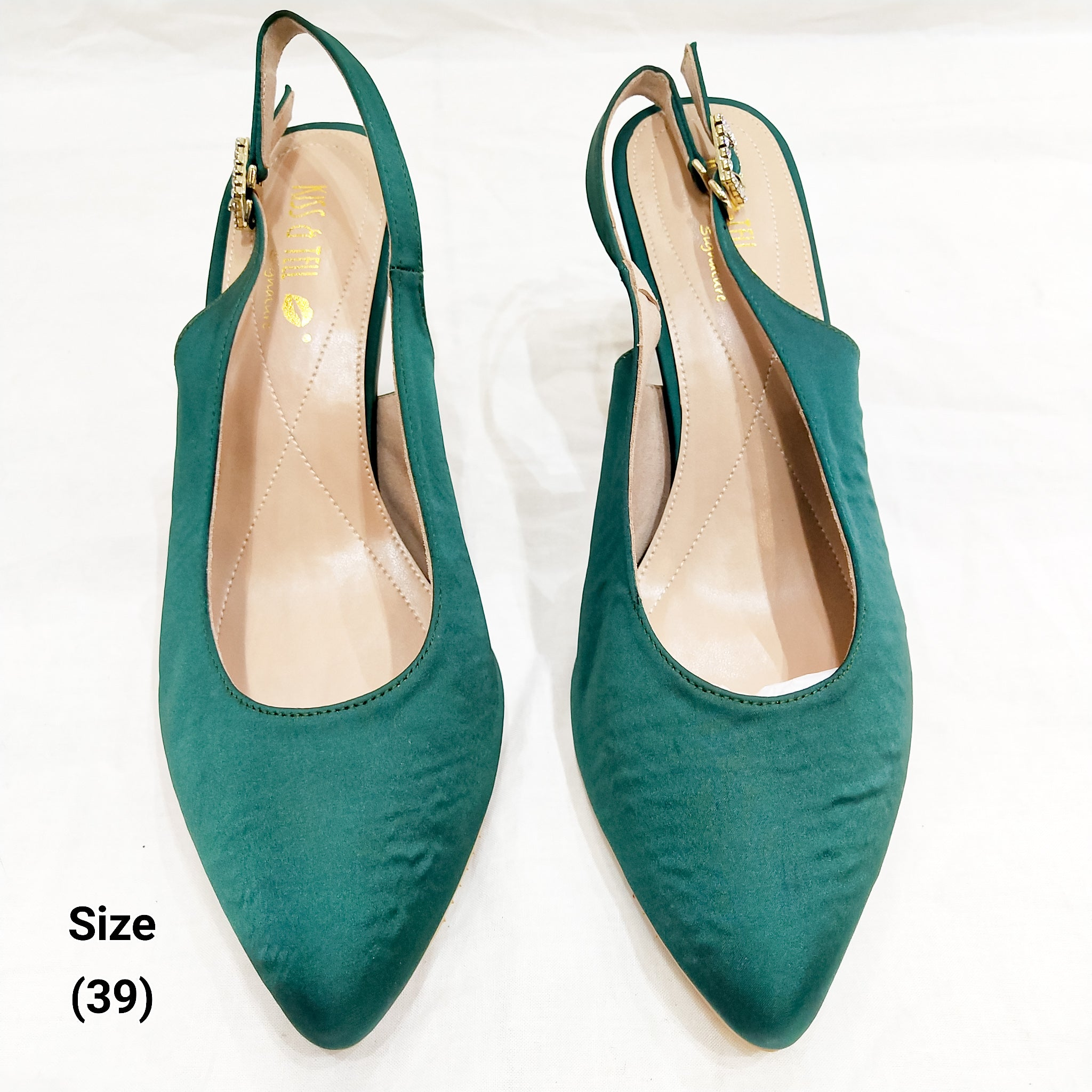 Elena Heels in Emerald (Reject)