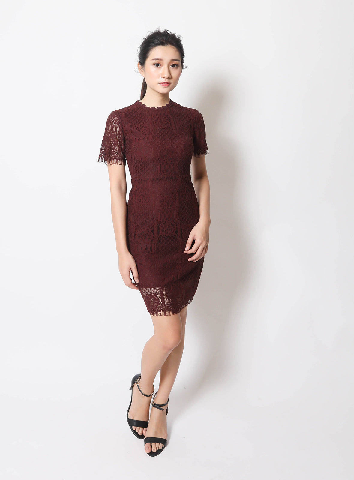 Piper Dress in Burgundy