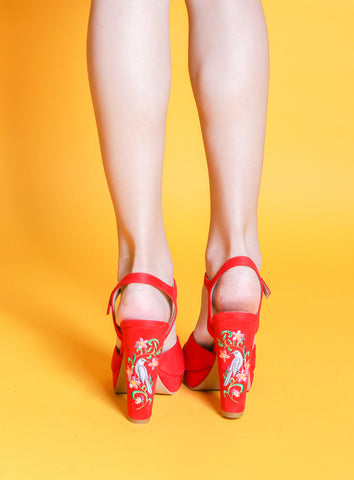 Joy Heels in Red