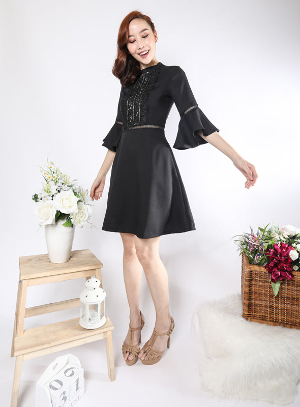 Reagen Dress in Black