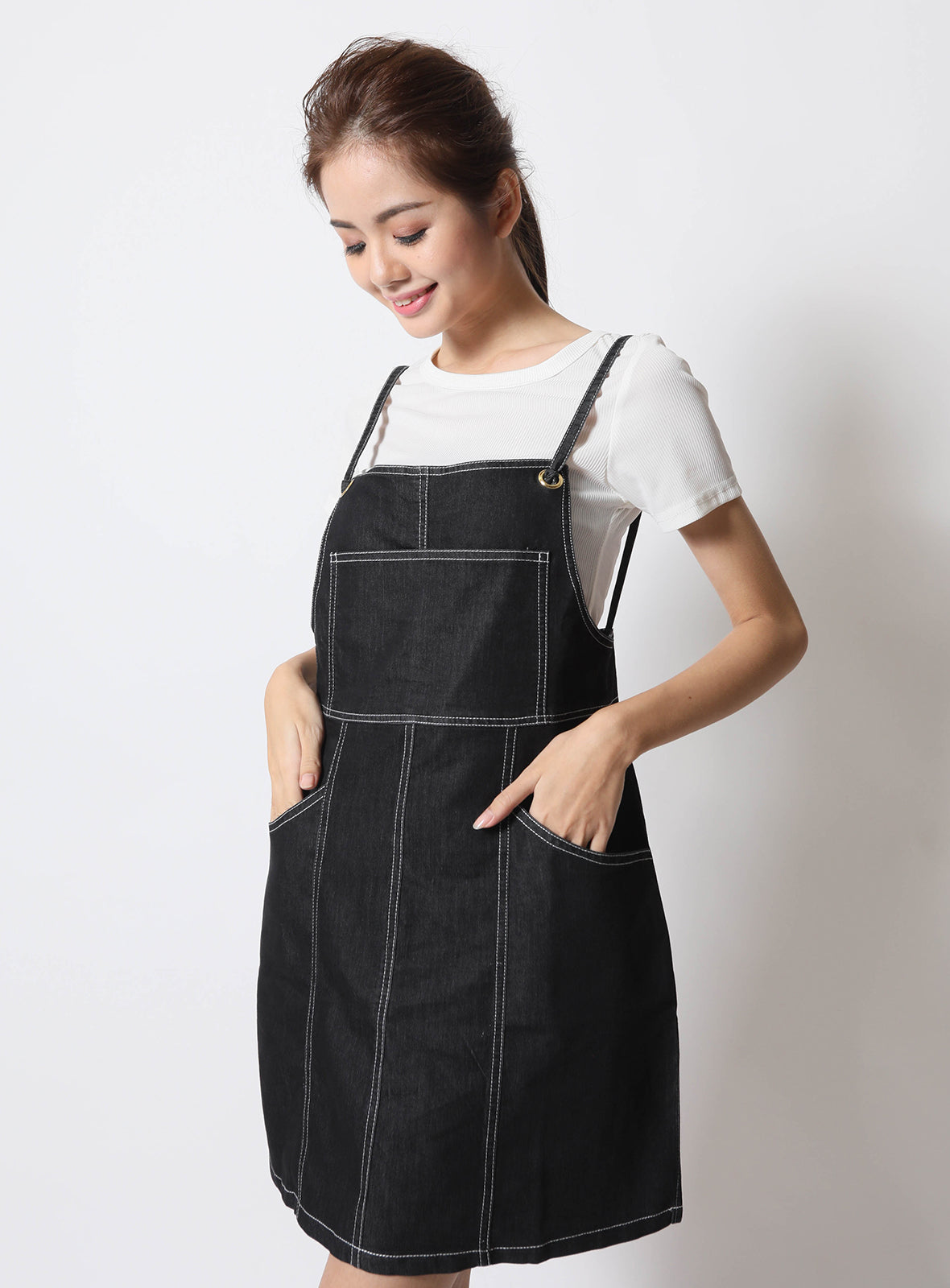 Ruby Overalls in Black