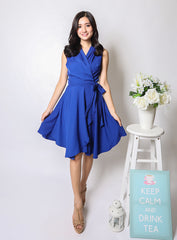 Sabrina Dress in Electric Blue