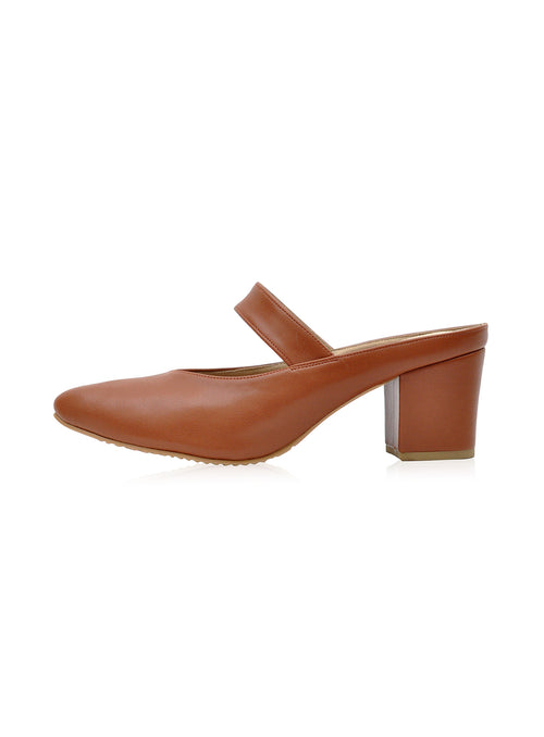 Saddie 2.0 Mules in Tan