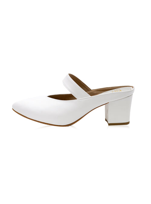Saddie 2.0 Mules in White