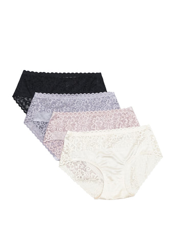 6 Pack Arya Cotton Lace Panties Bundle A