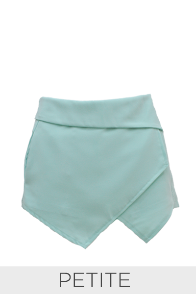 Asymmetrical Skort in Mint