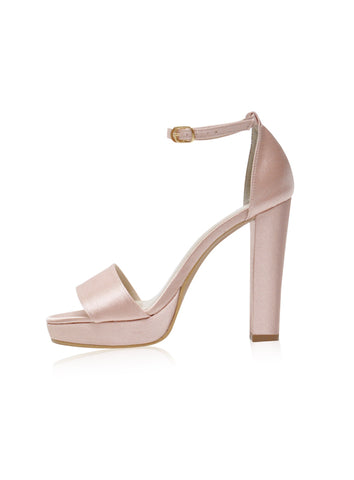 Zoey Heels in Dusty Pink