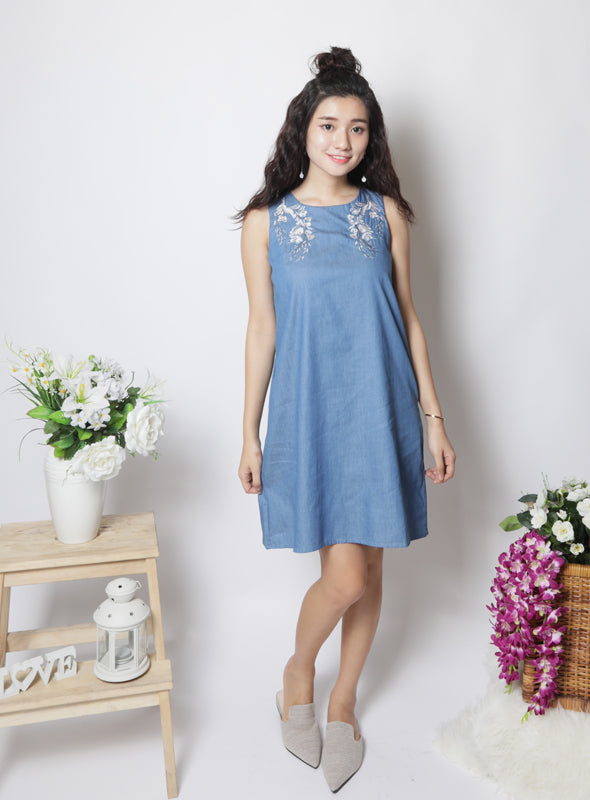 Summer Dress in Light Denim
