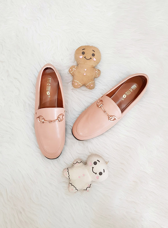 Tibi Loafers in Apricot