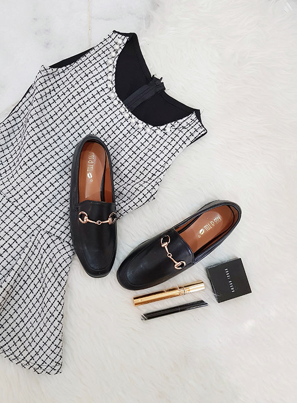 Tibi Loafers in Black