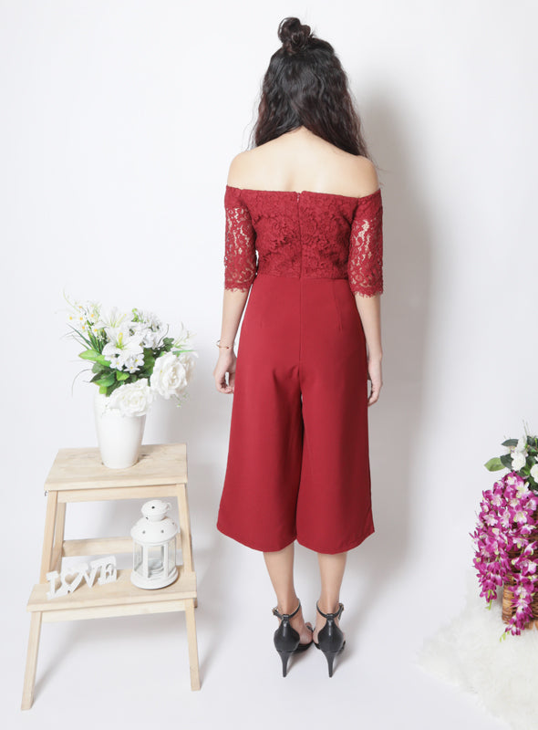 Tobi Jumpsuit in Wine
