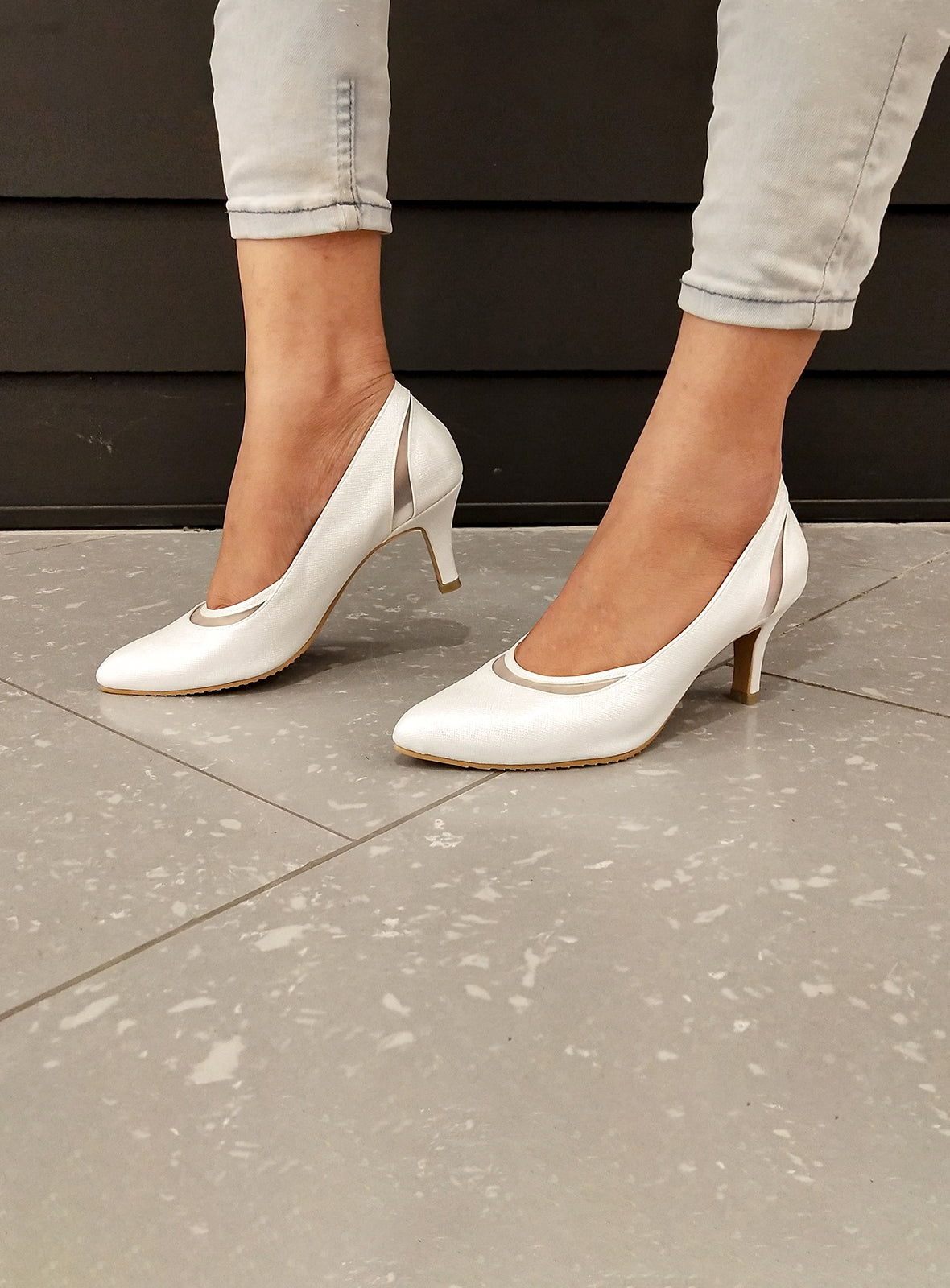 Tricia Heels in White