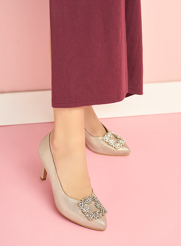 Trinity Heels in Dusty Pink