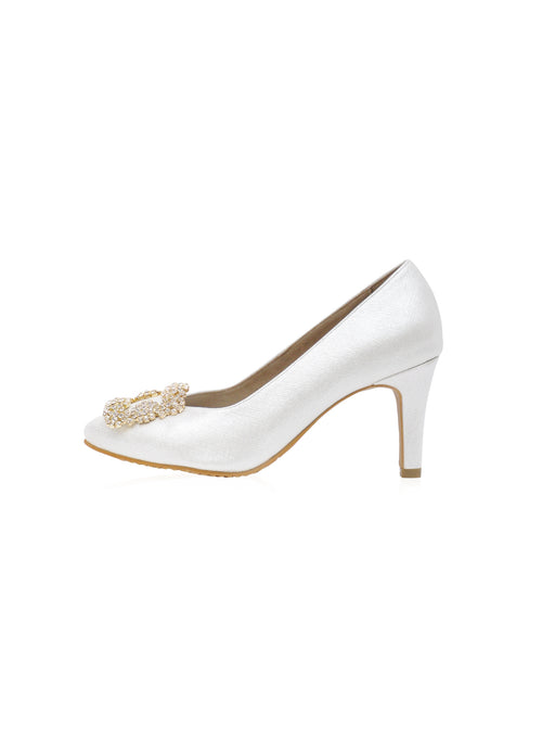 Trinity Heels in White
