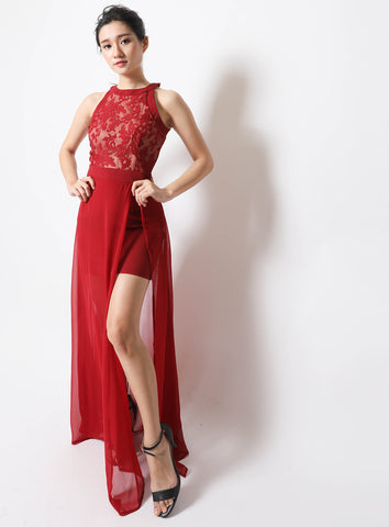 Aurelia Dress in Red