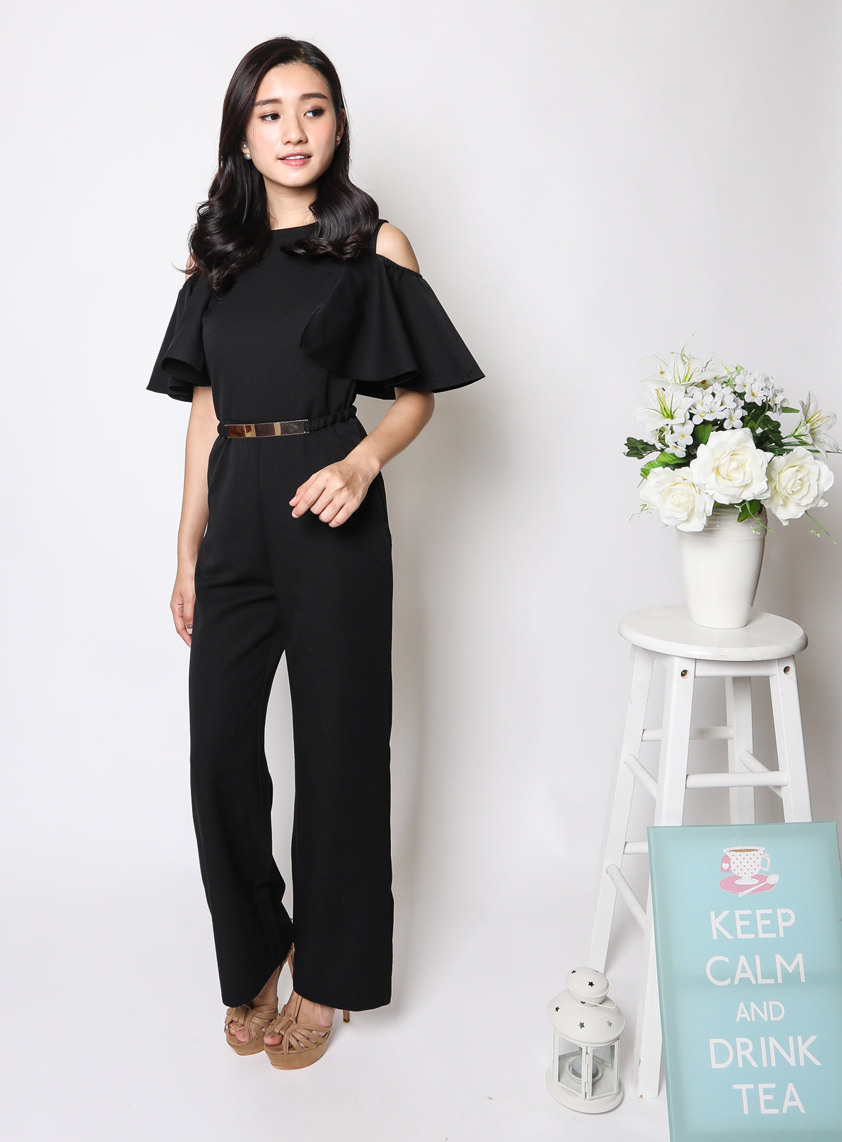 Yuna Jumpsuit in Jet Black