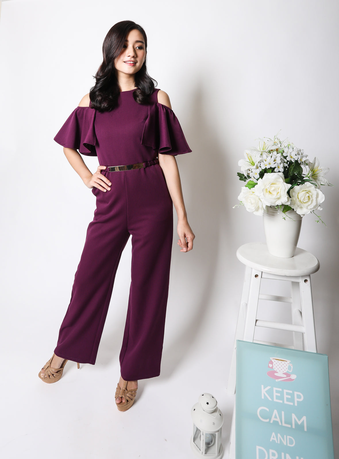 Yuna Jumpsuit in Royal Purple