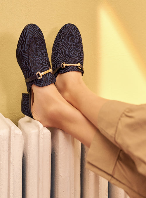Ella Mules in Blue