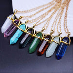 Crystal Healing Point Chakra Gem Necklace