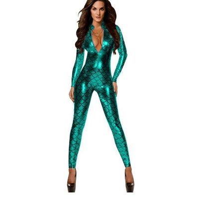 Mermaid Princess Zip-Up Jumpsuit