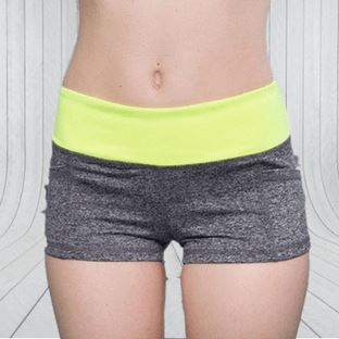 Bumblebee High-Waisted Fitness Shorts