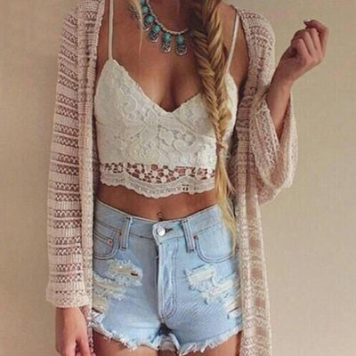 """Aria"" Hot Camisole Bralette Crop Top"