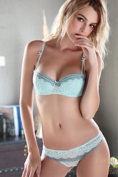 """Charleigh"" Thin Cup Bras Sexy Lace Embroidery Lingerie"