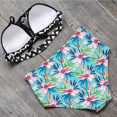 Floral Queen - High-Waisted Two-Piece