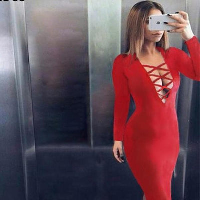 Alessanddra -- Women's Sexy Bodycon Dress