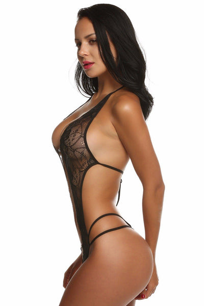 """Jolie"" One Piece Lace  Halter Costumes"