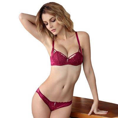 """Nylah"" Luxury Romantic Lace Plunge Thin Lingerie"