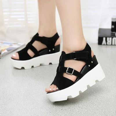 """Anastasia"" Open Toe Platform Gladiator Sandals"