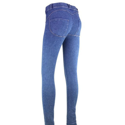 Gaia Blue Low Waisted Jeans