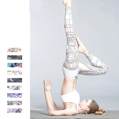"""Gillian"" Elasticity Print Workout Leggings"