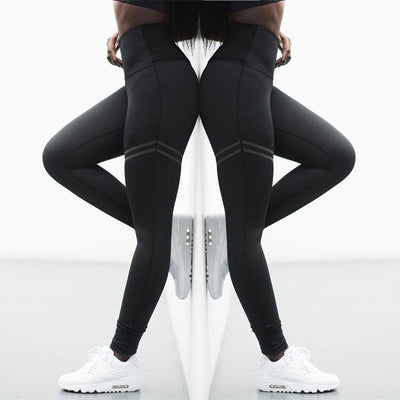 """Frenzy"" Stretch Activewear High Waist Fitness Leggings"