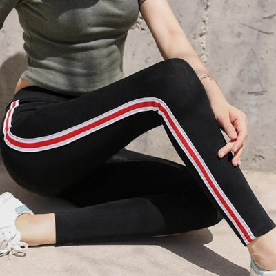 """Grace"" Casual Striped Gothic Fitness Leggings"