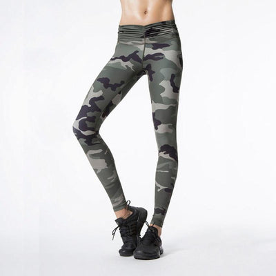 """Beatrix"" Camo Printed Sporting Leggings"